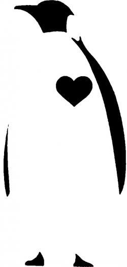 Emperor Penguin clipart stencil