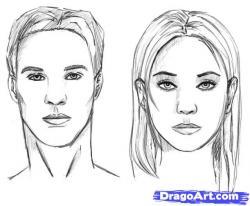 Drawn photos person