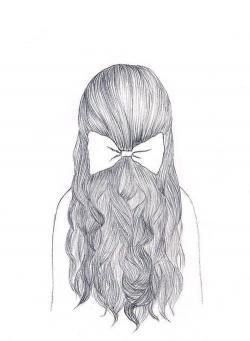 Drawn girl teenager