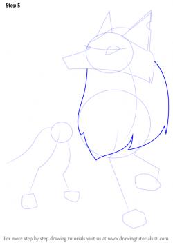 Drawn wolf arctic wolf