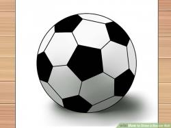 Drawn football soccer ball