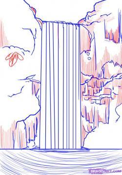 Drawn waterfall easy