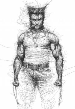 Drawn man wolverine