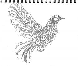 Drawn pidgeons abstract