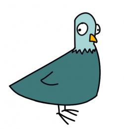 Drawn pigeon funny cartoon