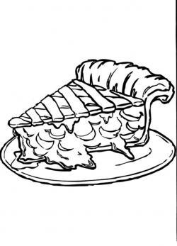 Drawn pies apple pie