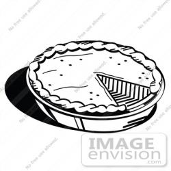 Drawn pies black and white