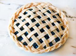 Drawn pies blueberry pie