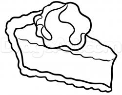 Drawn pies pumpkin pie
