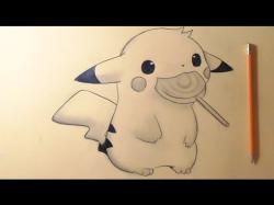 Drawn pikachu chibi