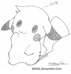 Drawn pikachu cute