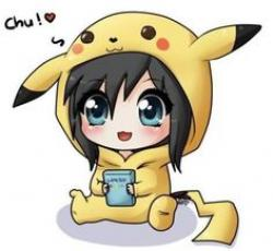 Drawn pikachu cute female