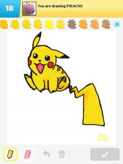 Drawn pikachu draw something