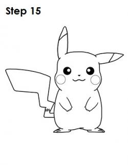 Drawn pikachu easy draw