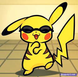 Drawn pikachu gangnam style