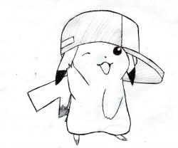 Drawn pikachu gangster