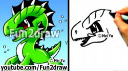 Sea Monster clipart easy draw
