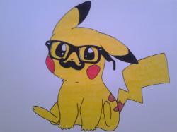 Drawn pikachu nerdy