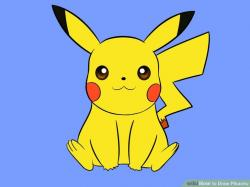 Drawn pikachu picachu
