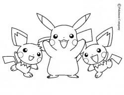 Drawn pikachu pokemon coloring