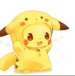 Drawn pikachu super cute