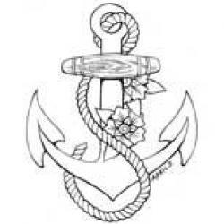 Drawn anchor girly