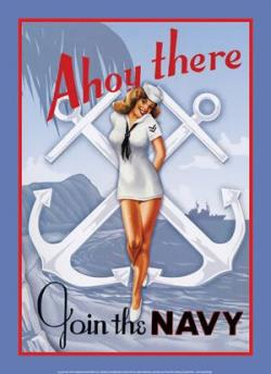 Drawn pin up  us navy