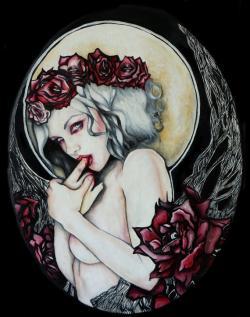 Drawn pin up  vampire