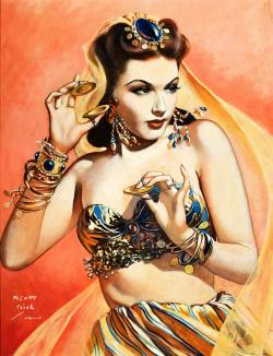 Drawn pin up  vintage