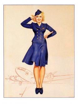 Drawn pin up  vintage air