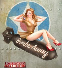 Drawn pin up  wwii aircraft