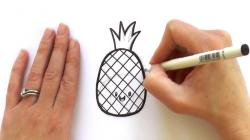 Drawn pineapple animated