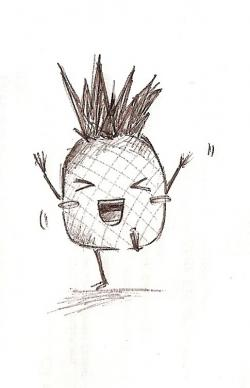 Drawn pineapple cute