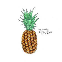 Drawn pineapple doodle