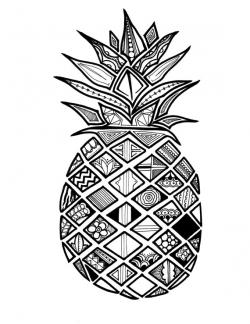 Drawn pineapple illustration