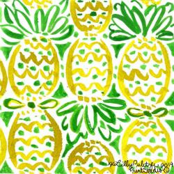 Drawn pineapple lilly pulitzer