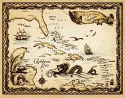 Sea Monster clipart treasure map