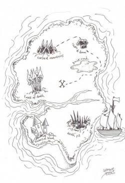 Drawn eiland treasure island
