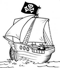 Drawn pirate color