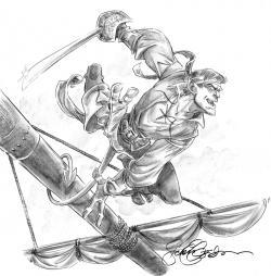 Drawn pirate comic