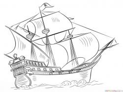 Drawn pirate line art