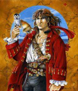 Drawn pirate male