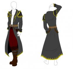 Drawn pirate pirate outfit