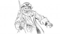 Drawn pirate realistic