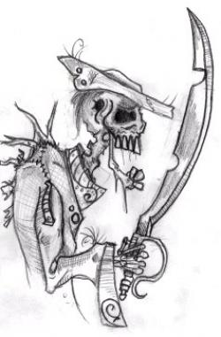 Drawn pirate undead