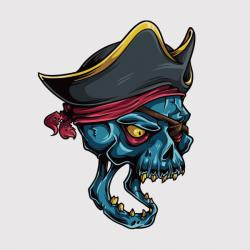 Drawn pirate vector