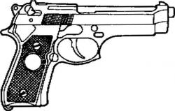 Drawn pistol 9mm