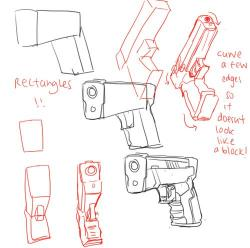 Drawn weapon gun