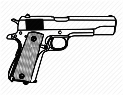 Drawn pistol army gun