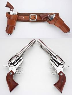 Drawn shotgun cowboy gun